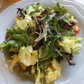 Gluten-free green salad from Homestead Inn