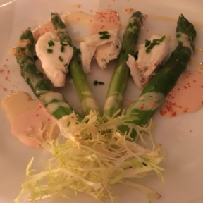 Gluten-free asparagus dish from Homestead Inn