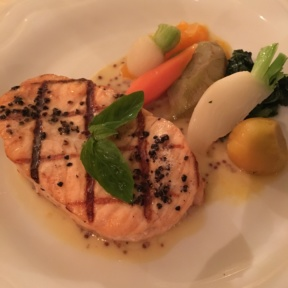 Gluten-free salmon from Homestead Inn