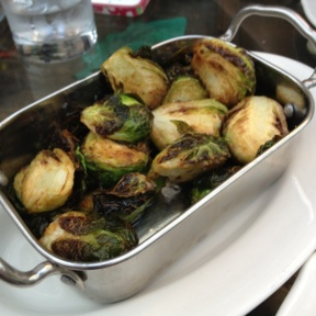 Gluten-free brussels sprouts from Hotel Chantelle