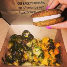 Gluten-free veggies and dessert from Hu Kitchen