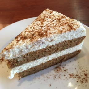 Gluten-free carrot cake from Hugo's