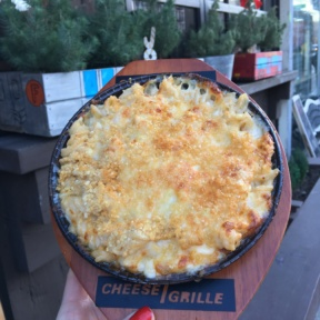 Mac and cheese in the air at Cheese Grille