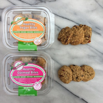 Healthy oatmeal bites & vegan bites by Alyssa's Cookies
