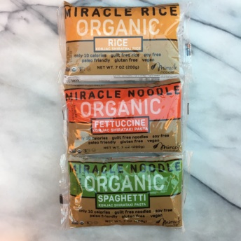 Gluten-free organic pasta by Miracle Noodle