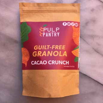 Grain-free cacao crunch granola by Pulp Pantry