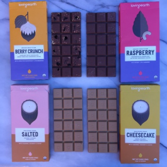 Vegan chocolate by Loving Earth