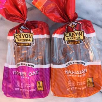Honey oat and Hawaiian sweet bread by Canyon Bakehouse