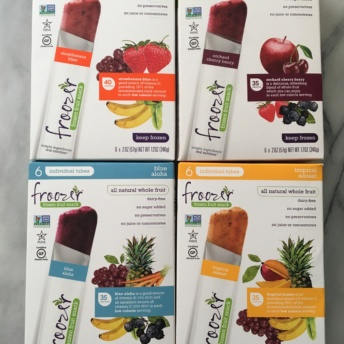 Gluten-free all-natural whole fruit tubes by Froozer