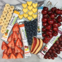 Gluten-free fruit popsicles by Froozer