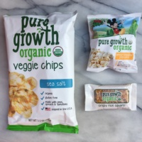 Gluten-free popcorn, chips, and bar from Pure Growth Organic
