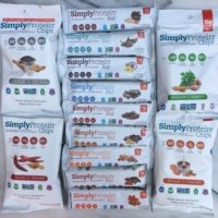 Gluten-free bars and chips by Simply Protein