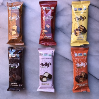 Gluten-free chocolate bars by Nelly's Organics
