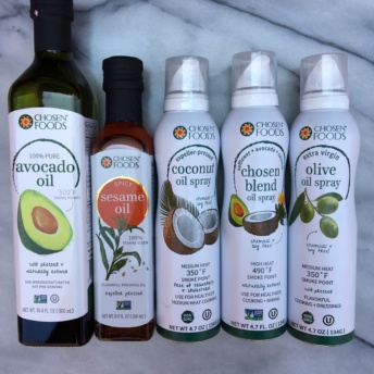 Oils and sprays from Chosen Foods