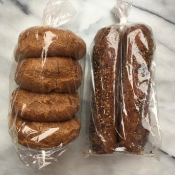 Grain free rolls and baguette from Barely Bread