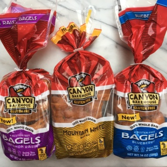 Gluten-free bagels and bread from Canyon
