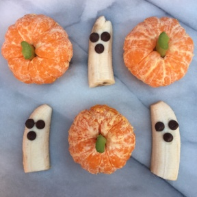 Gluten-free Fruit Pumpkins and Ghosts