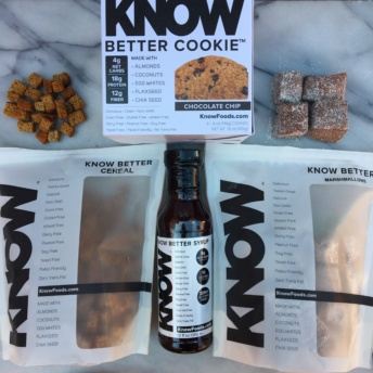 Paleo cereal, cookies, marshmallows, and syrup by Know Foods