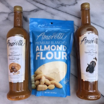 Gluten-free almond flour and syrups from Amoretti