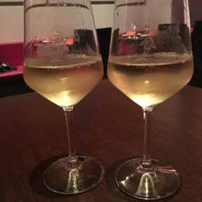 Two glasses of wine from Il Viaggio