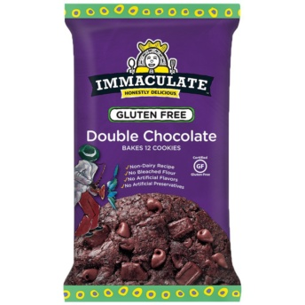 Gluten-free double chocolate cookie dough by Immaculate Baking