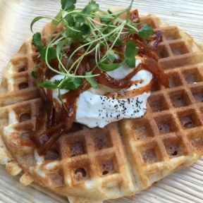 Gluten-free waffle from Inday
