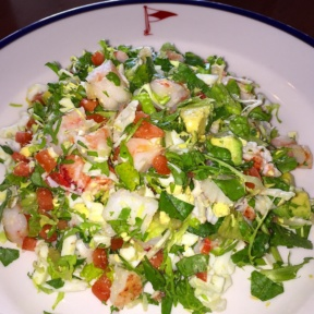 Gluten-free seafood Cobb salad from Indian Harbor Yacht Club (IHYC)