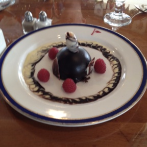 Gluten-free flourless chocolate cake from Indian Harbor Yacht Club (IHYC)