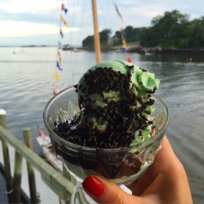 Gluten-free mint chocolate chip ice cream from Indian Harbor Yacht Club (IHYC)