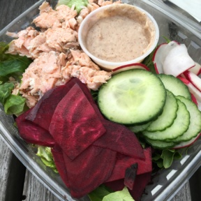 Gluten-free salmon salad from Indie Fresh