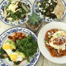 Gluten-free brunch spread from Ivory on Sunset
