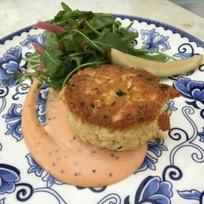 Gluten-free crab cake from Ivory on Sunset