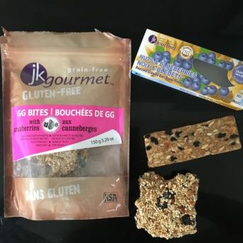 Gluten free granola bites and bar from JK Gourmet