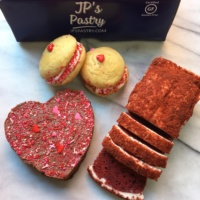 Valentine's Day gluten-free baked goods from JP's Pastry
