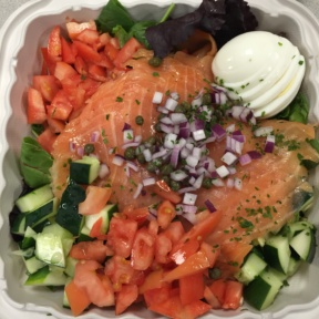 Gluten-free smoked salmon salad from Jim Brady's Irish Pub