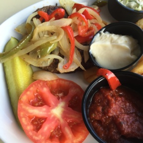Gluten-free burger from Johnny Longboats