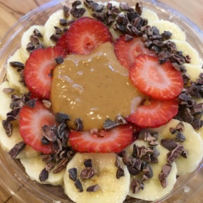 Gluten-free acai bowl from Juice Generation
