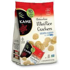 Gluten-free rice crackers from KA-ME