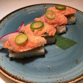 Gluten-free spicy tuna from Katsuya