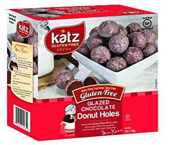 Gluten free chocolate donut holes from Katz Gluten Free