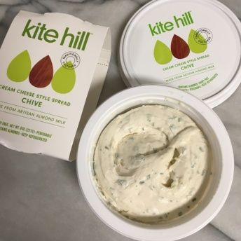Gluten-free dairy free chive cream cheese from Kite Hill