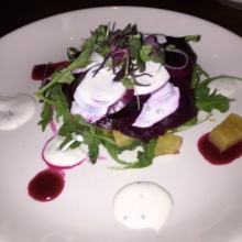 Gluten-free beet salad from Knickerbocker Bar & Grill