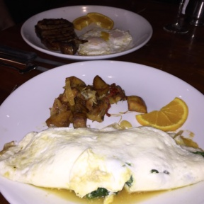 Gluten-free omelettes from Knickerbocker Bar & Grill
