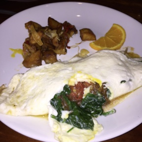Gluten-free omelette from Knickerbocker Bar & Grill