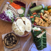 Gluten-free lunch spread from Kreation Organic Kafe