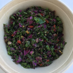 Gluten-free kale salad from Kye's