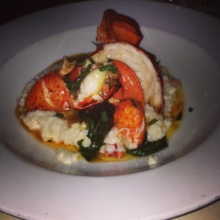 Gluten-free lobster dish from L'escale at The Delamar