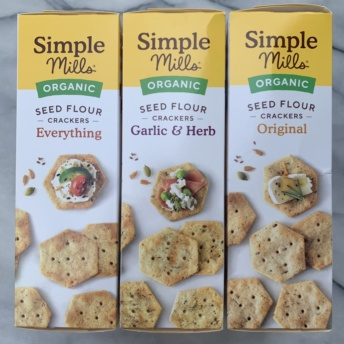 Gluten-free seed flour crackers by Simple Mills