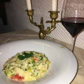 Gluten-free risotto from La Giostra
