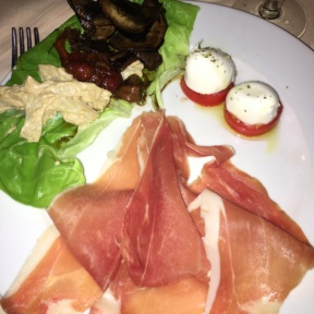 Gluten-free cheese and proscuitto from La Giostra
